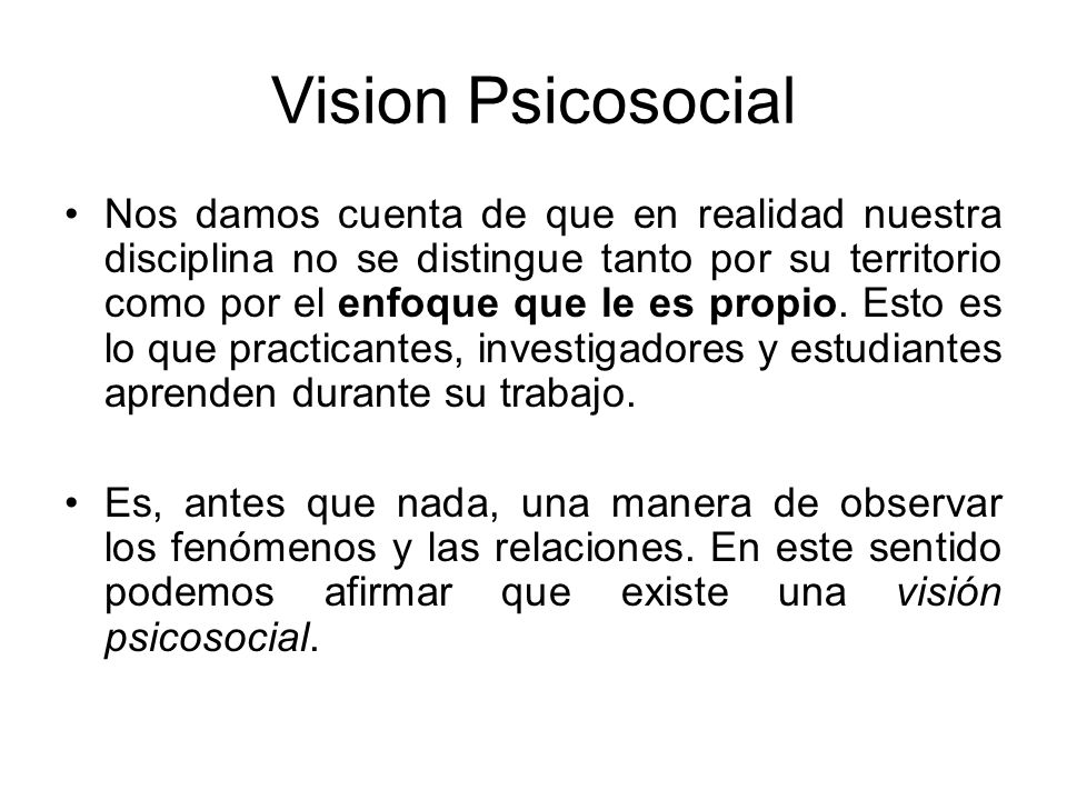Vision Psicosocial