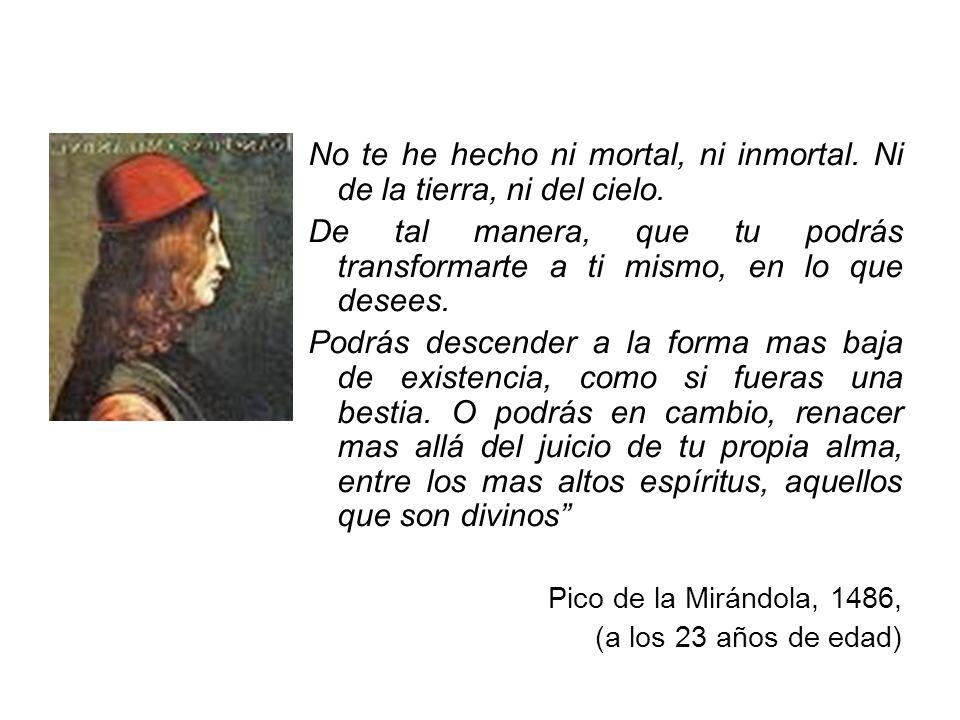 No te he hecho ni mortal, ni inmortal. Ni de la tierra, ni del cielo.