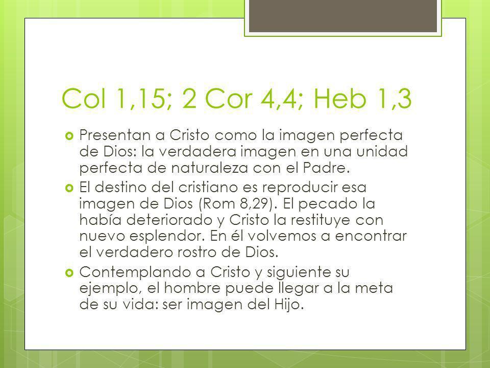 Col 1,15; 2 Cor 4,4; Heb 1,3