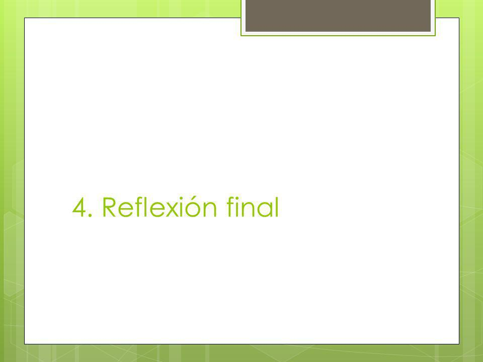 4. Reflexión final