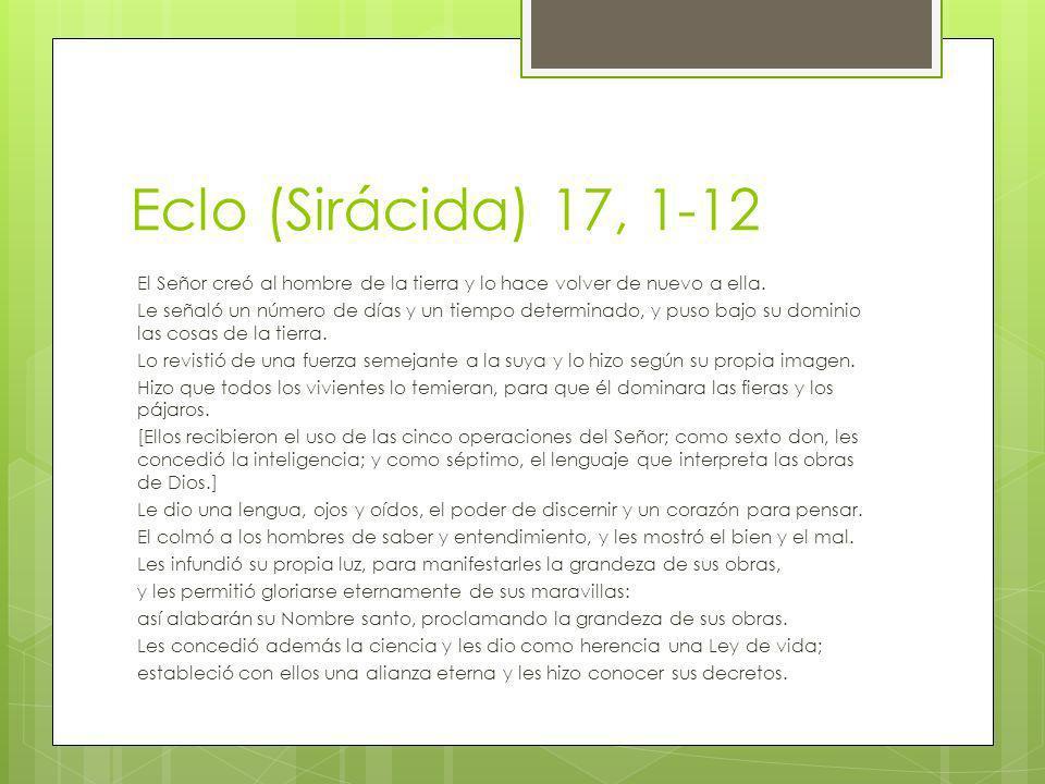 Eclo (Sirácida) 17, 1-12