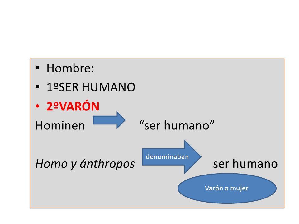 Homo y ánthropos ser humano