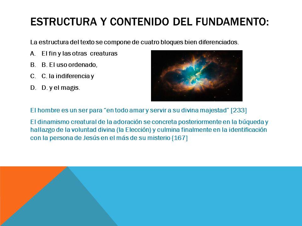 Estructura y contenido del fundamento:
