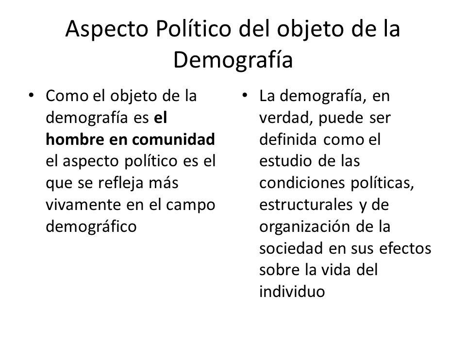 Aspecto Político del objeto de la Demografía