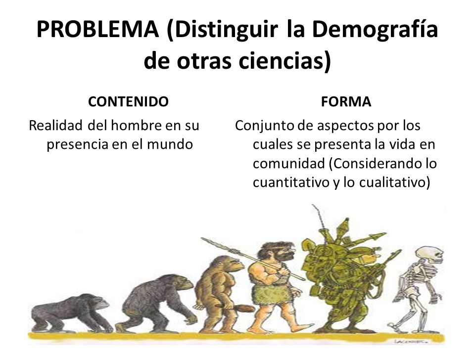 PROBLEMA (Distinguir la Demografía de otras ciencias)