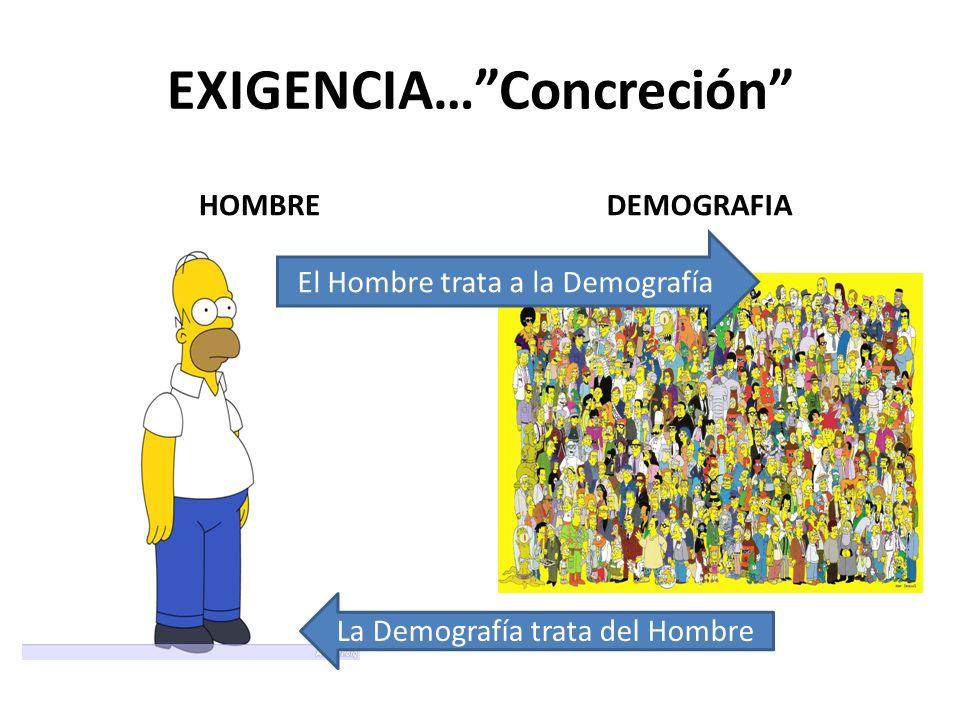 EXIGENCIA… Concreción