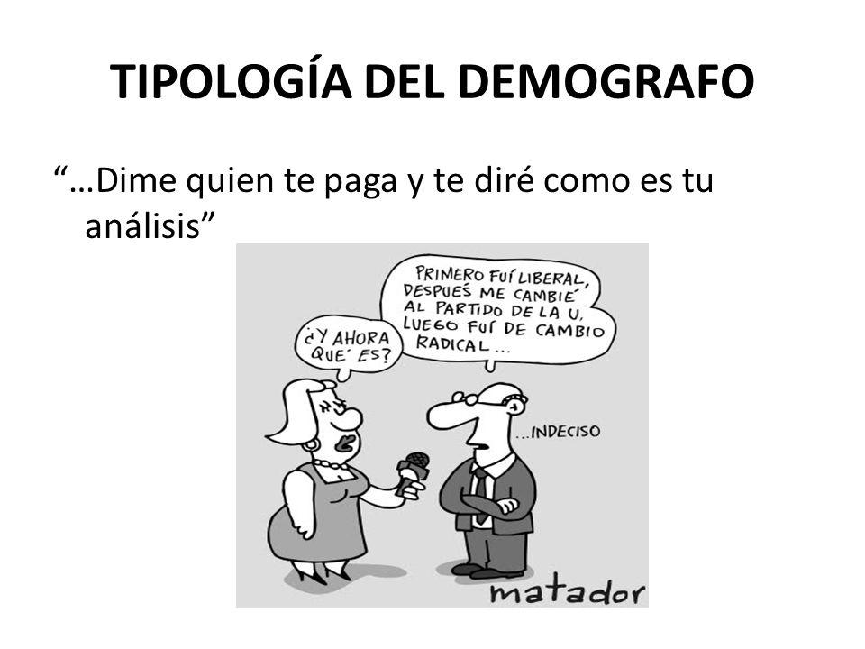 TIPOLOGÍA DEL DEMOGRAFO