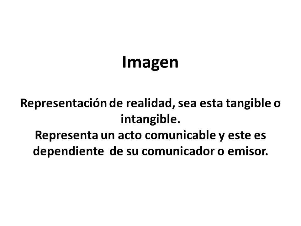 Imagen Representación de realidad, sea esta tangible o intangible