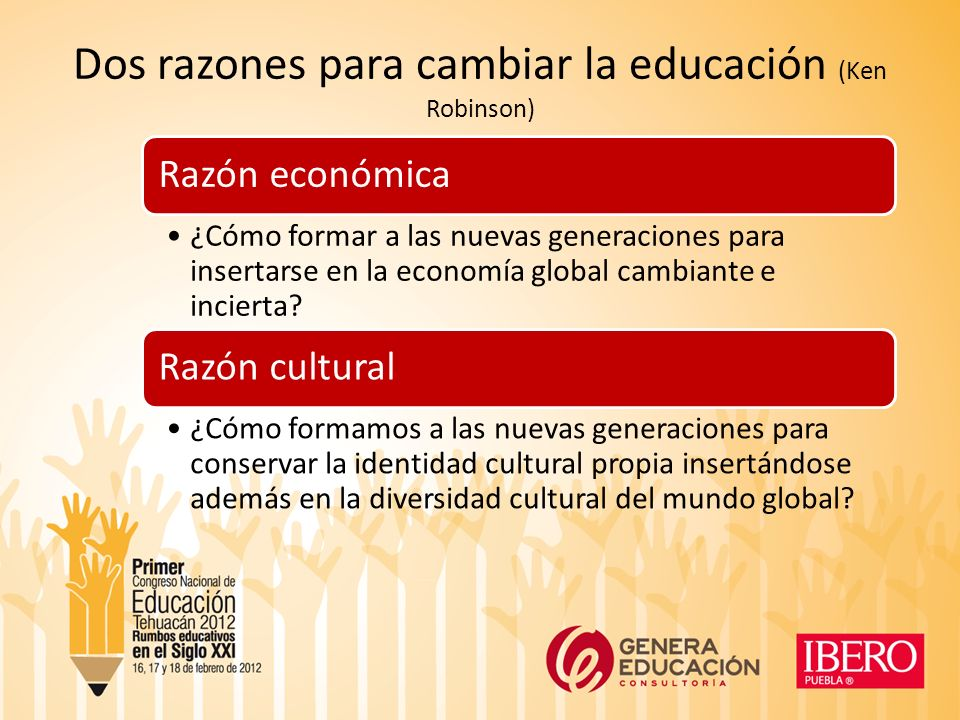 Dos razones para cambiar la educación (Ken Robinson)