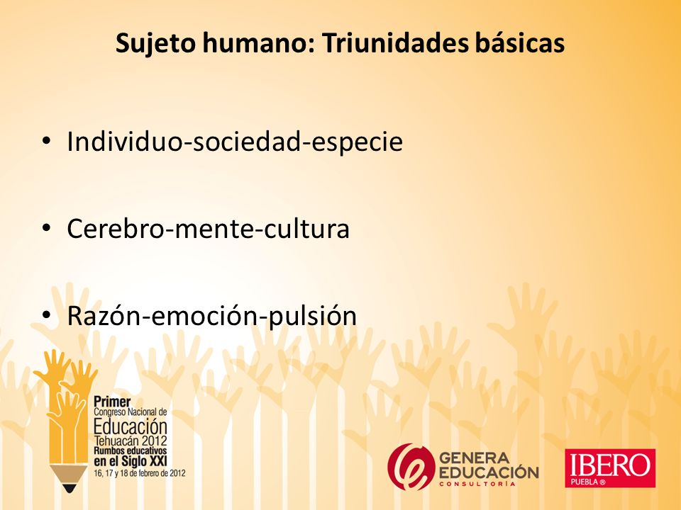 Sujeto humano: Triunidades básicas