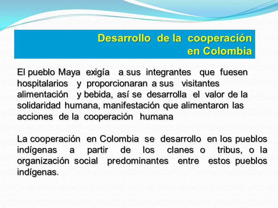Desarrollo de la cooperación en Colombia