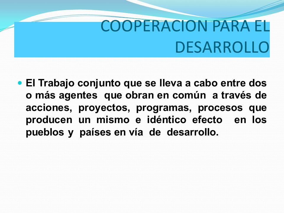 COOPERACION PARA EL DESARROLLO