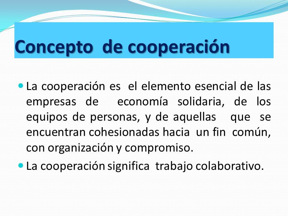 Concepto de cooperación