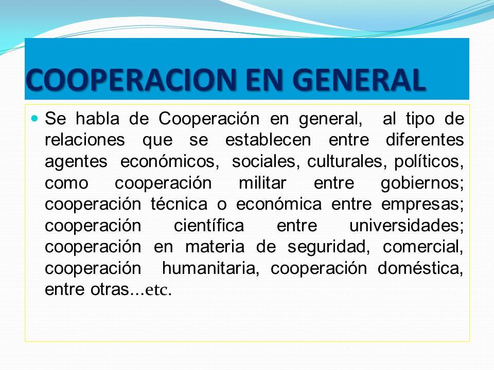 COOPERACION EN GENERAL
