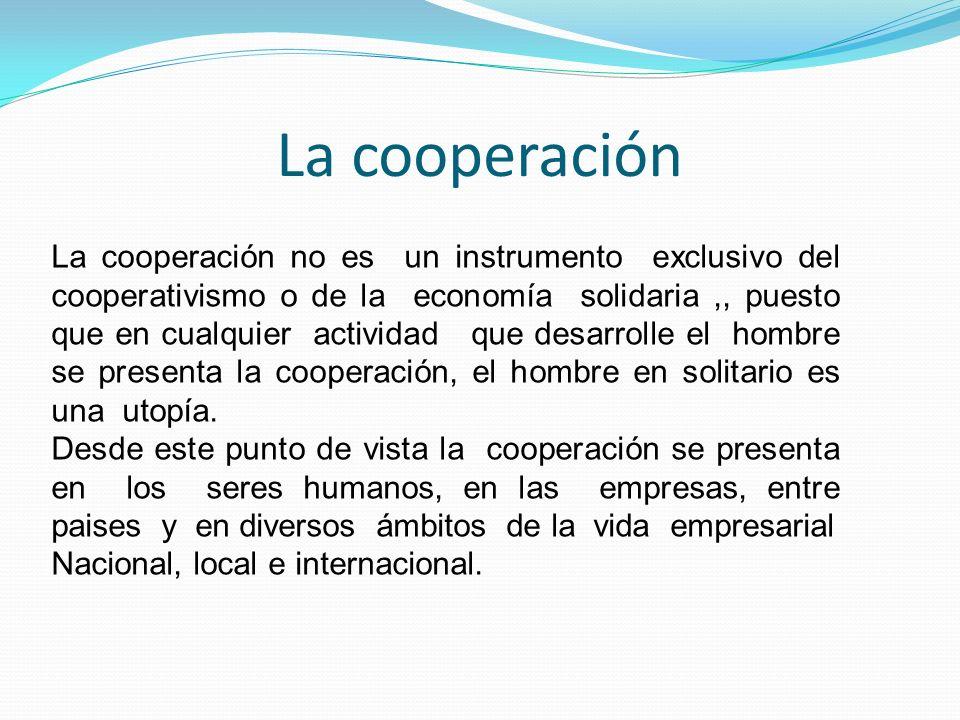 La cooperación