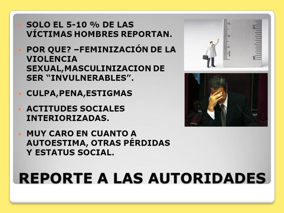 REPORTE A LAS AUTORIDADES