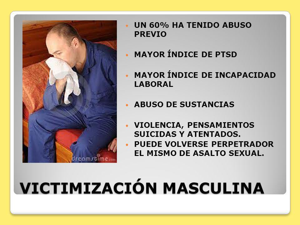 VICTIMIZACIÓN MASCULINA