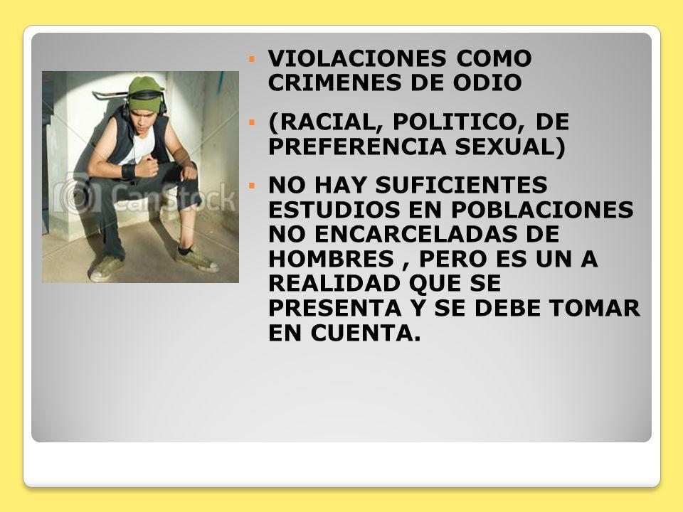 VIOLACIONES COMO CRIMENES DE ODIO
