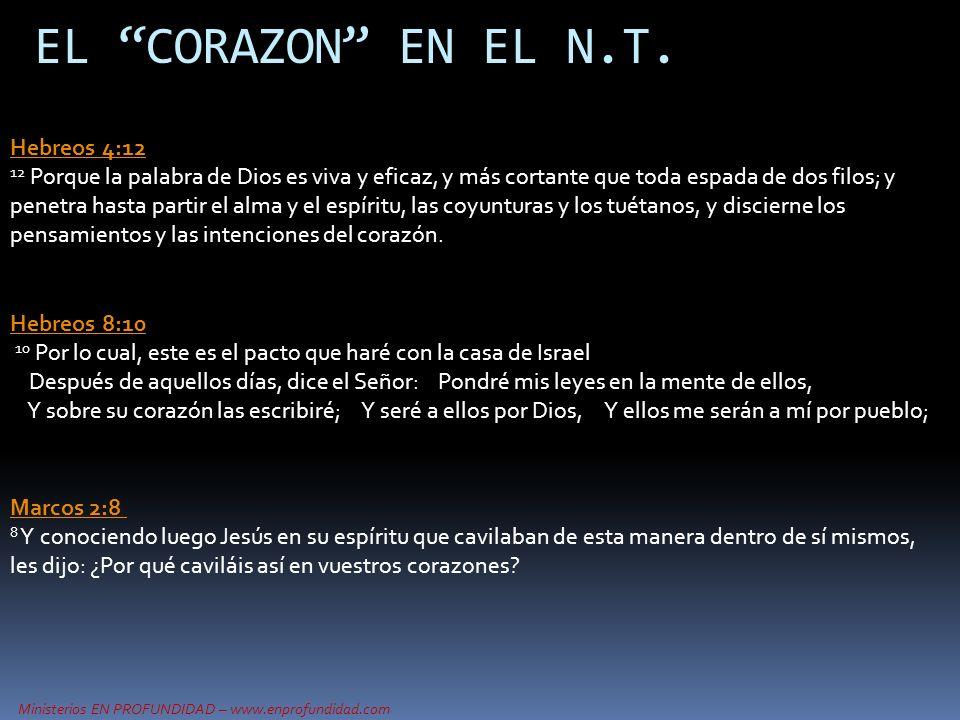 EL CORAZON EN EL N.T. Hebreos 4:12
