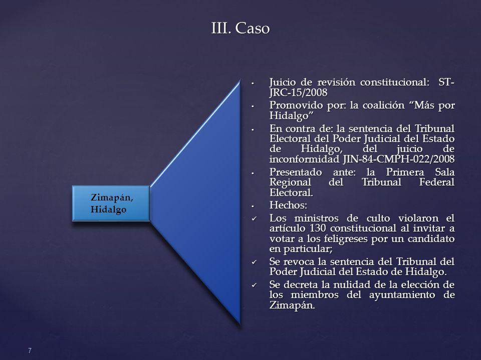 III. Caso Juicio de revisión constitucional: ST-JRC-15/2008