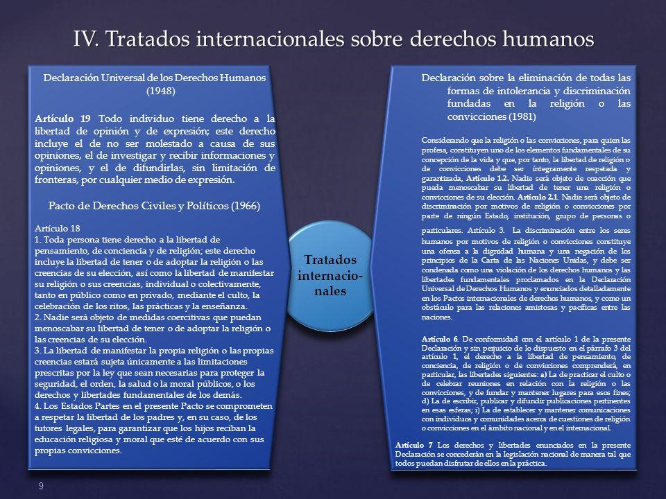 Tratados internacio-nales