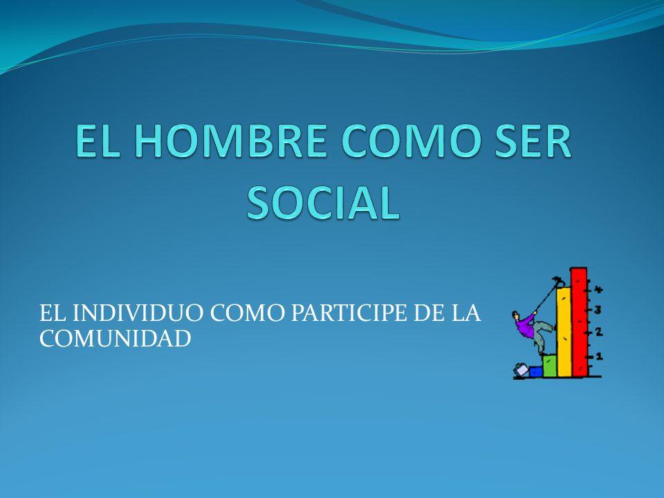 EL HOMBRE COMO SER SOCIAL