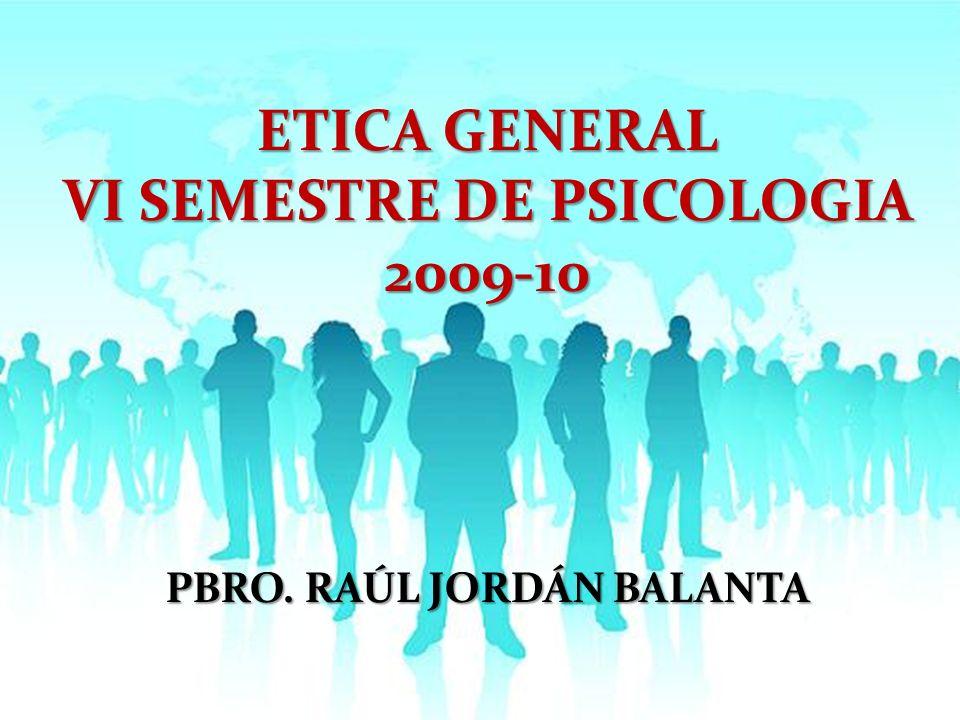 VI SEMESTRE DE PSICOLOGIA PBRO. RAÚL JORDÁN BALANTA
