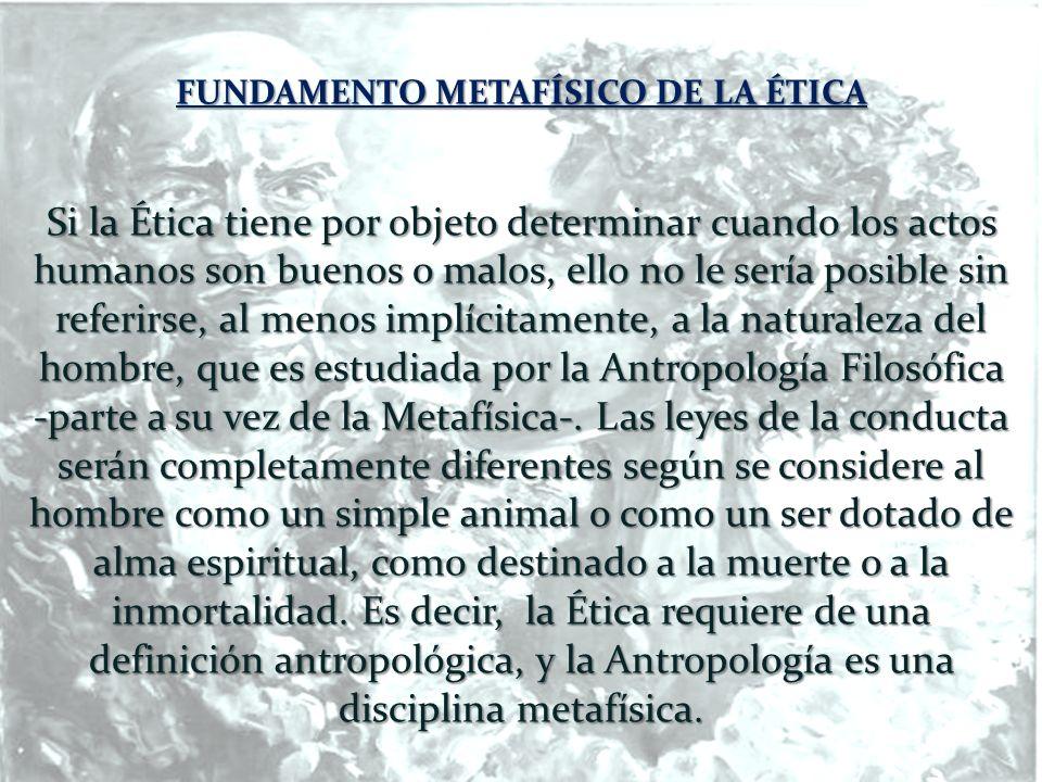 FUNDAMENTO METAFÍSICO DE LA ÉTICA