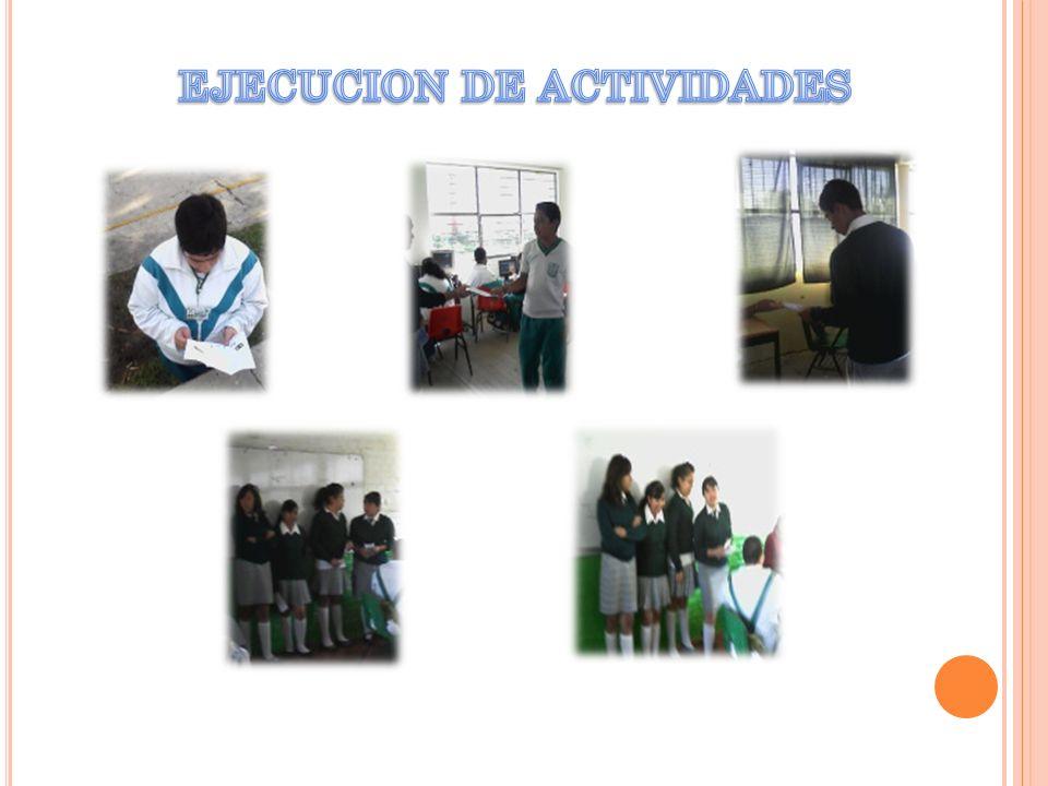 EJECUCION DE ACTIVIDADES