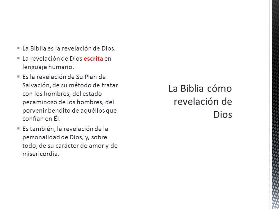 La Biblia cómo revelación de Dios