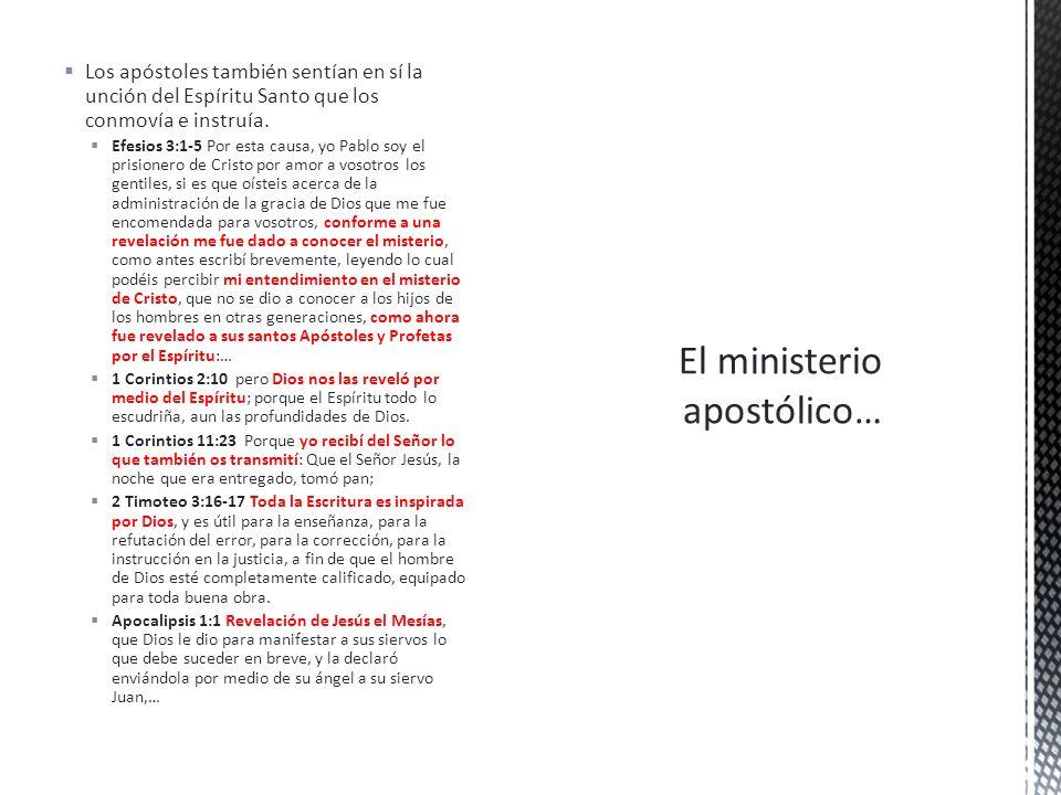 El ministerio apostólico…