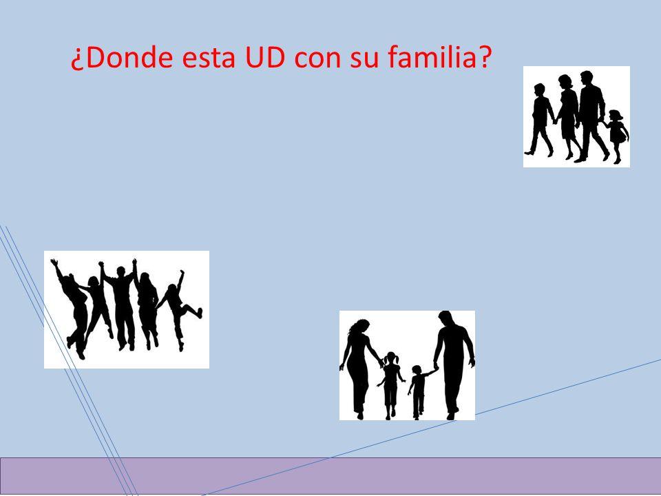 ¿Donde esta UD con su familia