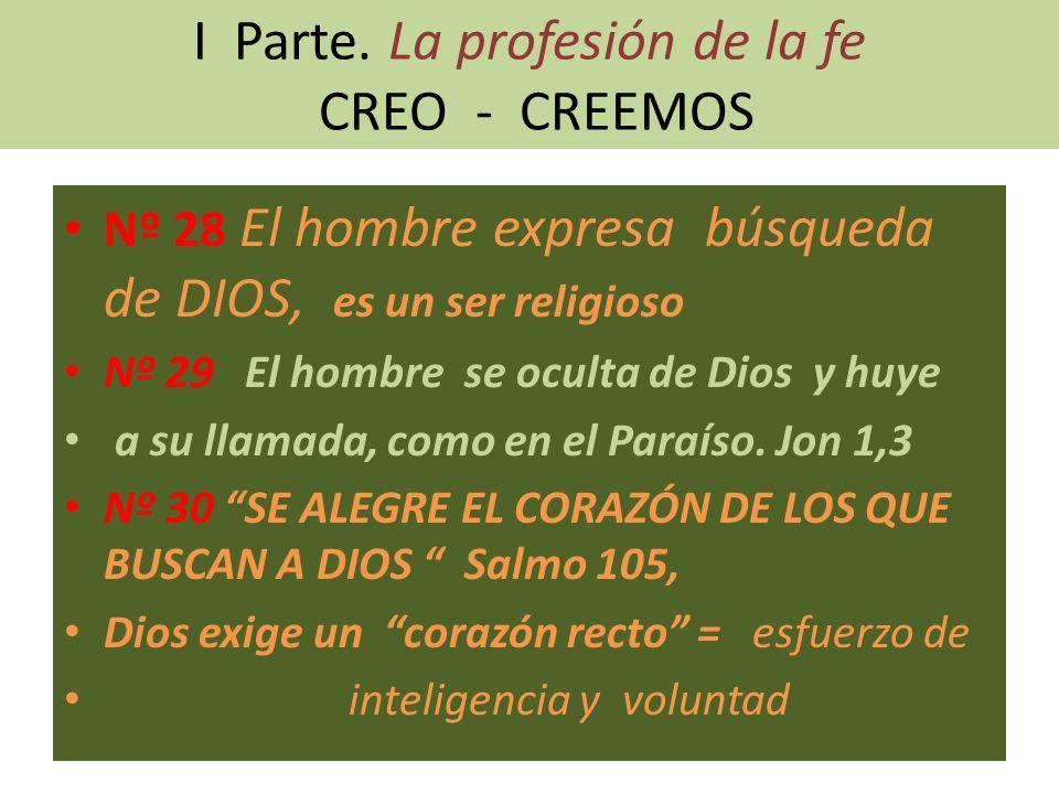 I Parte. La profesión de la fe CREO - CREEMOS