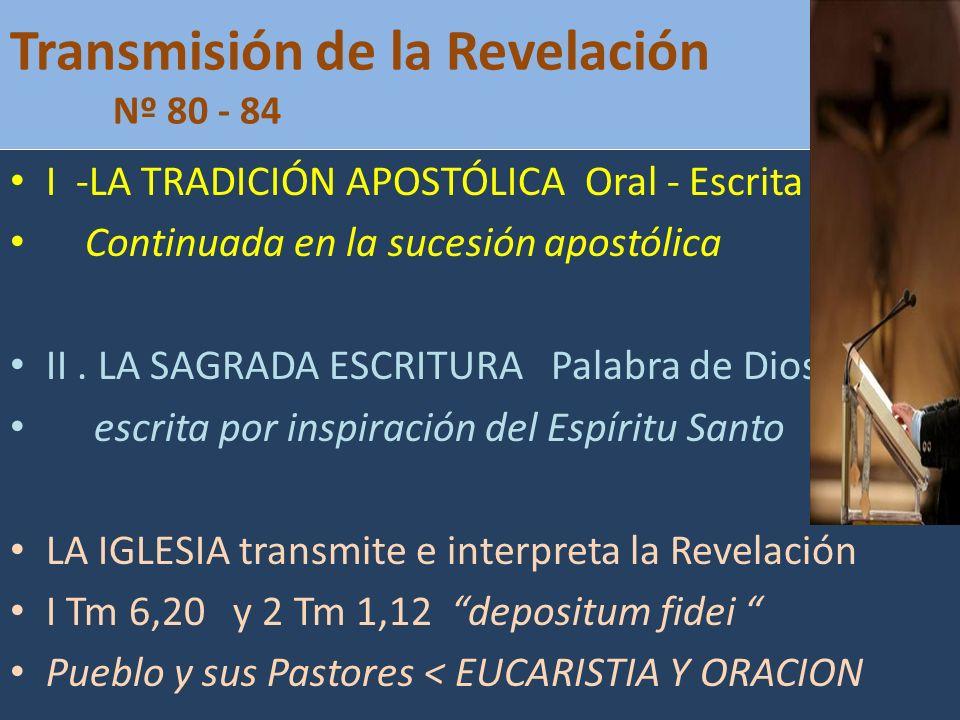 Transmisión de la Revelación Nº 80 - 84