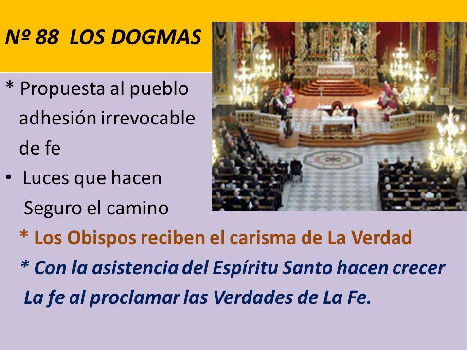 Nº 88 LOS DOGMAS * Propuesta al pueblo adhesión irrevocable de fe