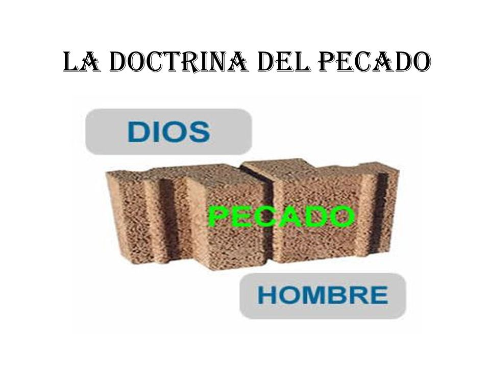 La doctrina del pecado