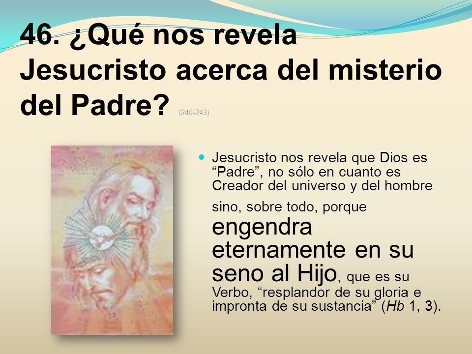 46. ¿Qué nos revela Jesucristo acerca del misterio del Padre (240-243)