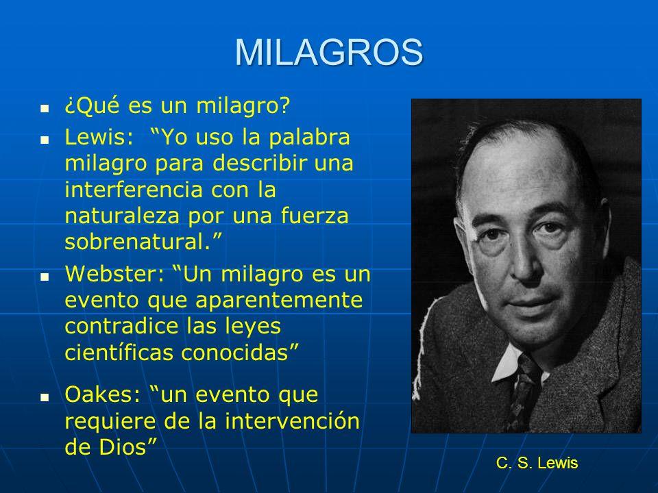MILAGROS ¿Qué es un milagro