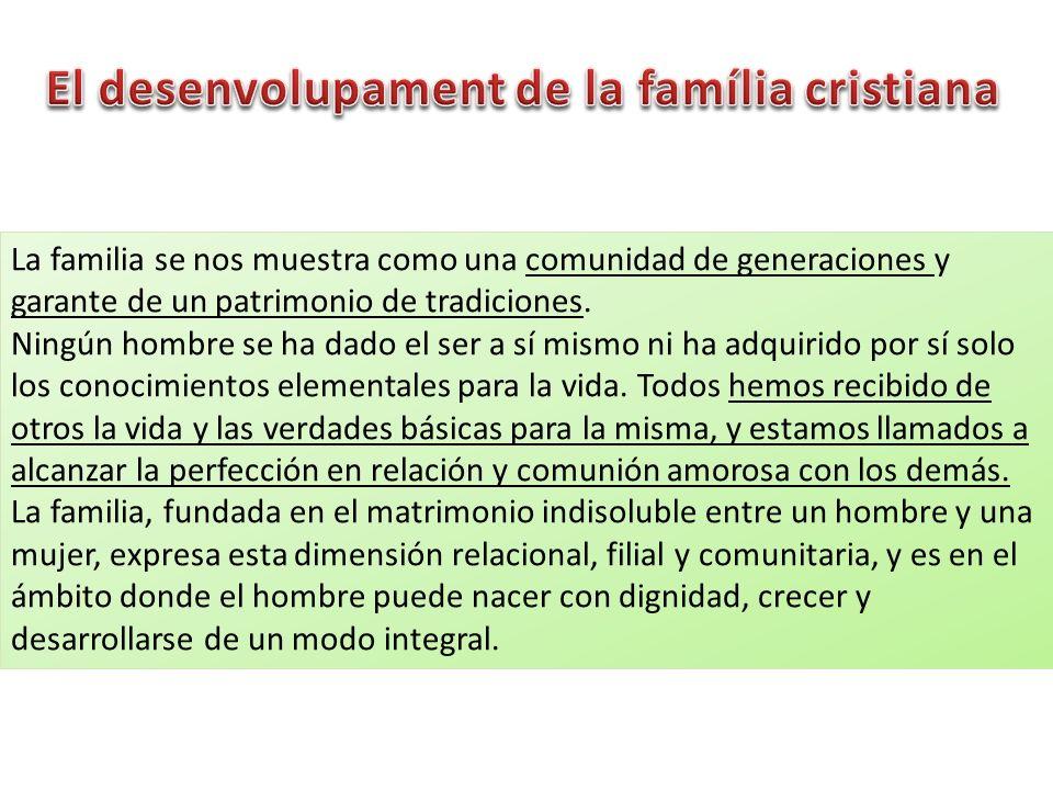 El desenvolupament de la família cristiana