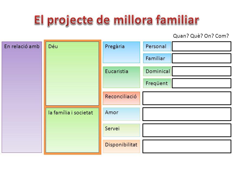 El projecte de millora familiar