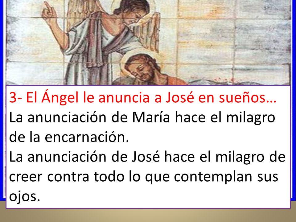 3- El Ángel le anuncia a José en sueños…