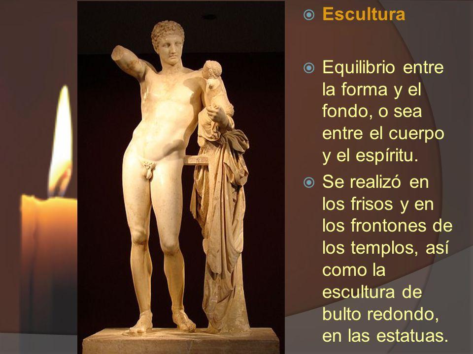 Escultura Equilibrio entre la forma y el fondo, o sea entre el cuerpo y el espíritu.