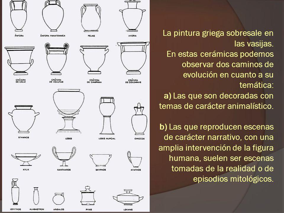 La pintura griega sobresale en las vasijas