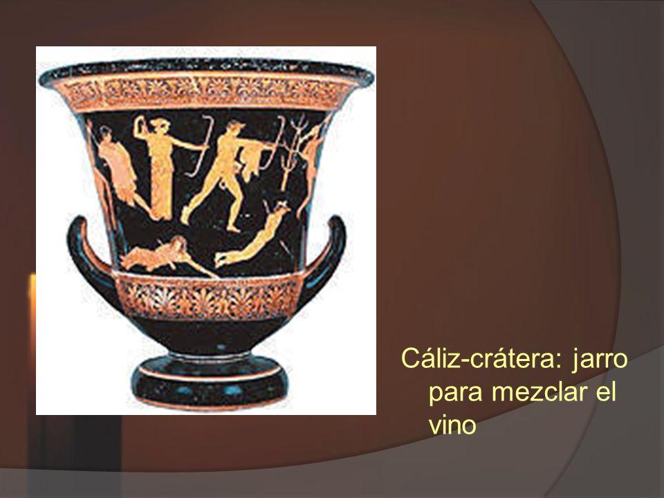Cáliz-crátera: jarro para mezclar el vino