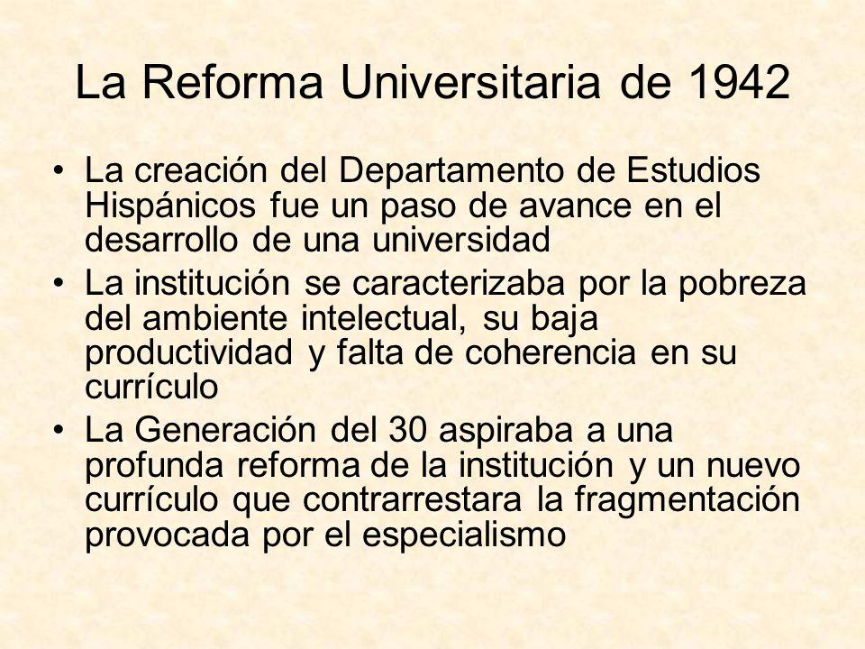 La Reforma Universitaria de 1942