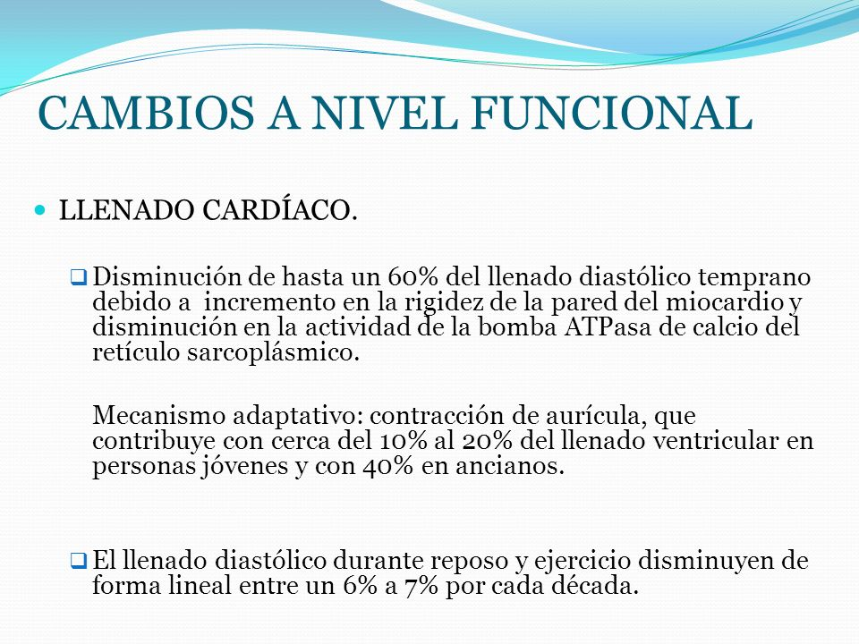CAMBIOS A NIVEL FUNCIONAL