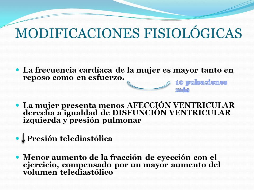 Modificaciones fisiológicas