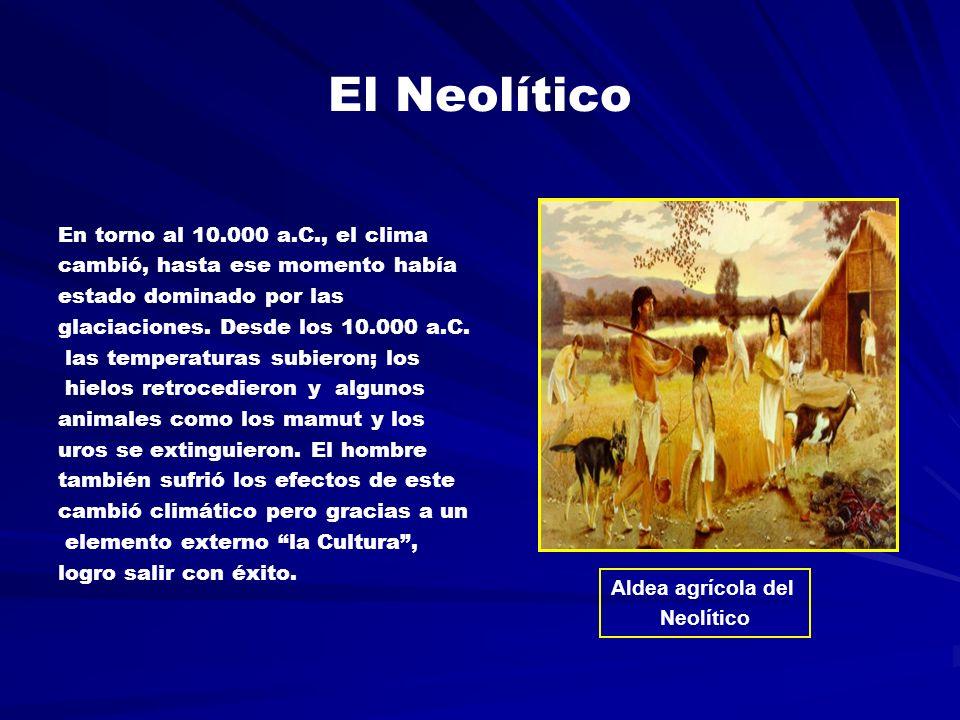 El Neolítico En torno al 10.000 a.C., el clima