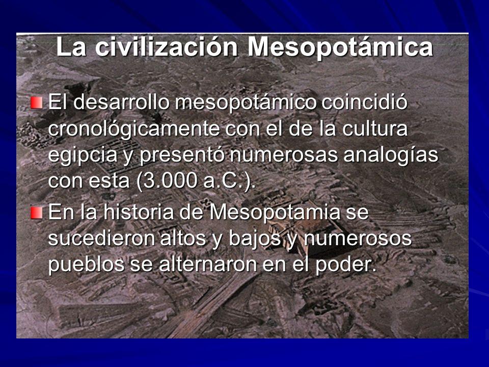 La civilización Mesopotámica
