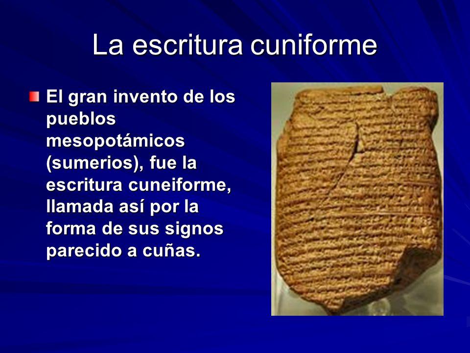 La escritura cuniforme